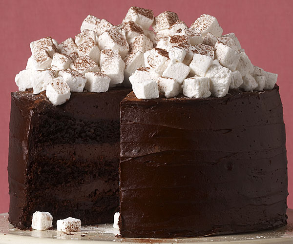 Chocolate marshmallow cake photo 1