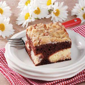 German chocolate cheesecake photo 2