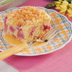 Rhubarb cake photo 1