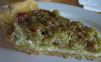 Rhubarb custard pie photo 2