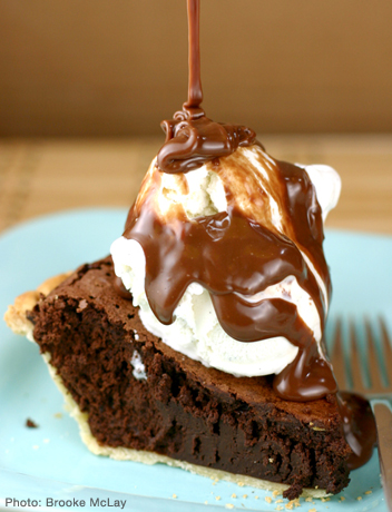 Chocolate brownie pie photo 1