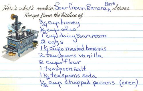 Sour cream banana bars photo 1