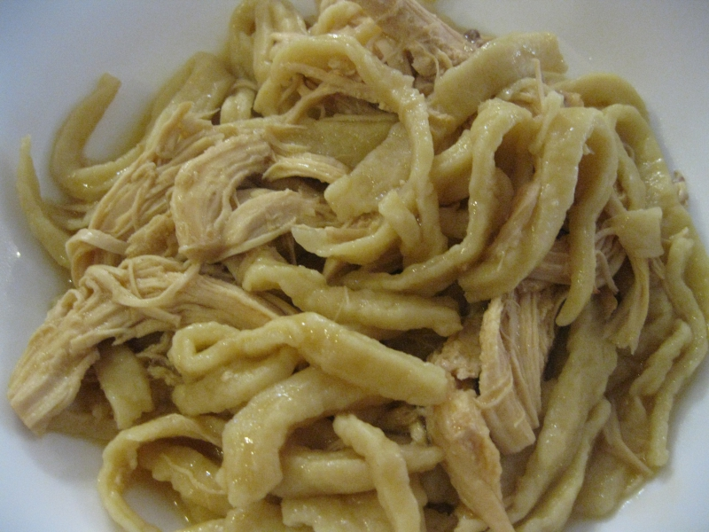 Chicken and noodles photo 2