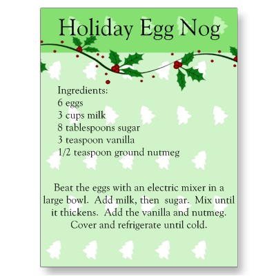 Holiday eggnog photo 2