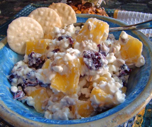Pineapple cottage cheese salad photo 1