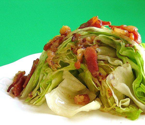 Wilted lettuce salad photo 1
