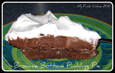 Chocolate brownie pie photo 3