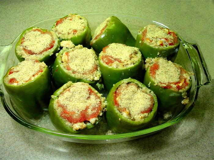 Stuffed green peppers photo 1