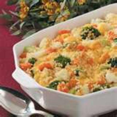 Cheesy vegetable casserole photo 2