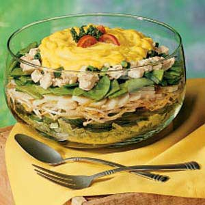 Layered chicken salad photo 1