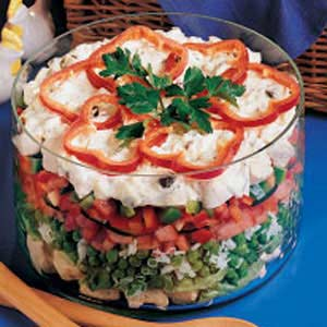 Layered chicken salad photo 2
