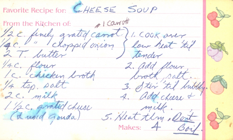 Cheese soup photo 1