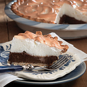 Chocolate meringue pie photo 1