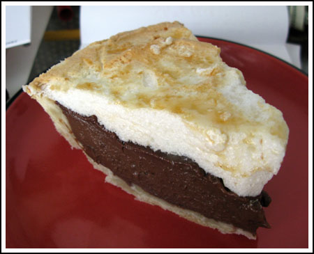 Chocolate meringue pie photo 2