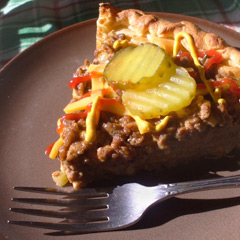 Impossible cheeseburger pie photo 3