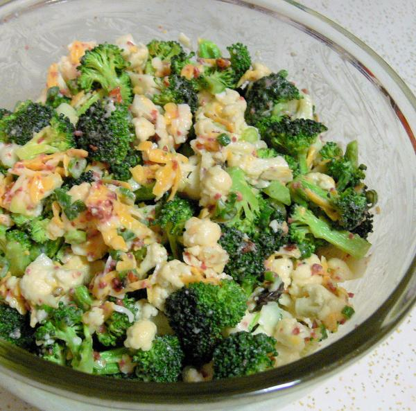 Broccoli cauliflower salad photo 2