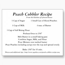 Peach cobbler photo 1