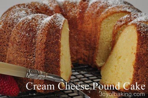 Cream Cheese Pound Cake Recipe How To Make Cream Cheese Pound Cake