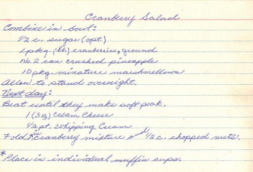 Cranberry cream salad photo 2