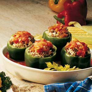 Stuffed green peppers photo 2