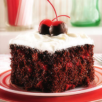 Chocolate cherry cake photo 1
