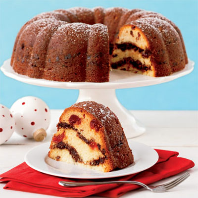 Chocolate cherry cake photo 2