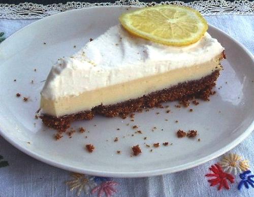 Frozen lemon pie photo 1