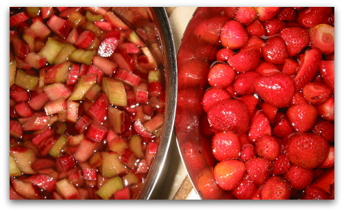 Rhubarb-strawberry preserves photo 2