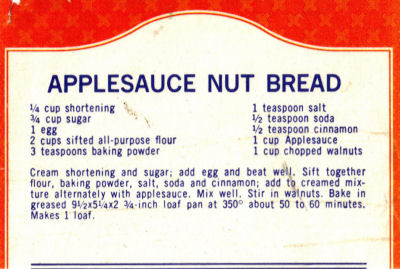 Applesauce nut bread photo 1