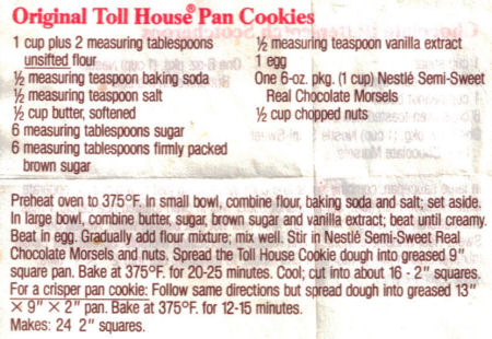 Toll house cookie pie photo 1
