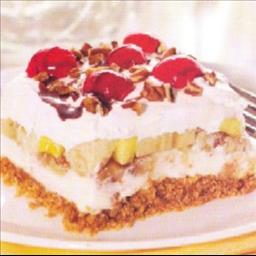 Frozen banana split dessert photo 1