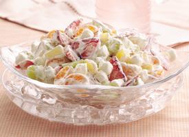 Fruit salad with pudding photo 2