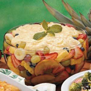 Fruit salad with pudding photo 1
