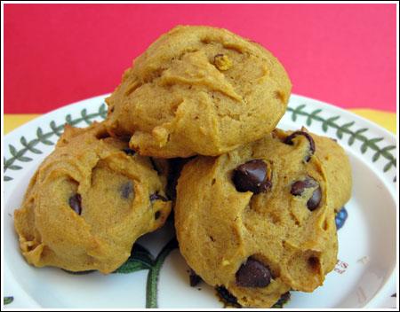 Pumpkin chocolate chip cookies photo 1