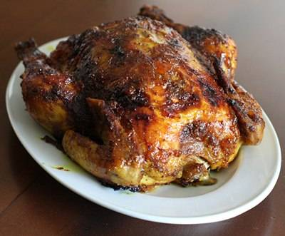 Roast chicken with curry butter photo 1