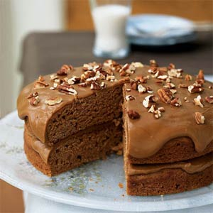 Spudin' spice cake with quick caramel frosting photo 1