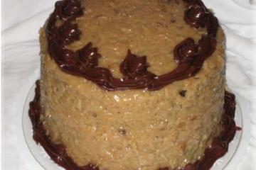 German chocolate upside-down surprise cake photo 1