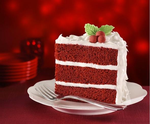 Red cake photo 1