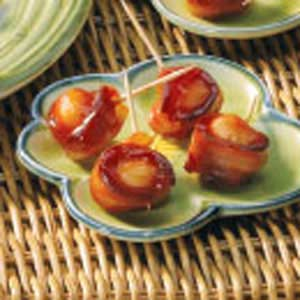 Water chestnuts wrapped in bacon photo 1