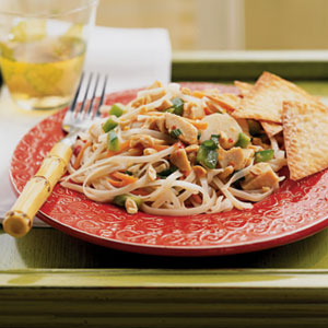 Asian chicken and noodles photo 2