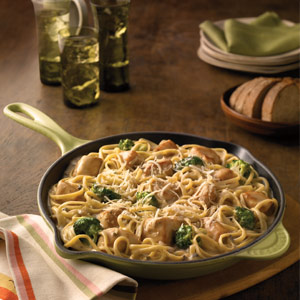 Chicken and broccoli alfredo photo 2