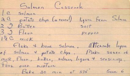 Salmon casserole photo 1