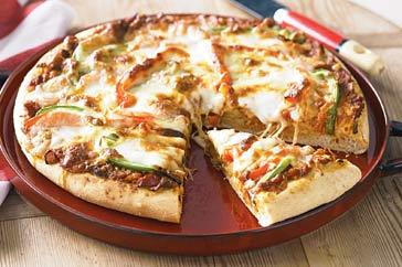 Vegetarian pizza photo 2