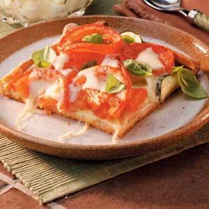 Vegetarian pizza photo 1