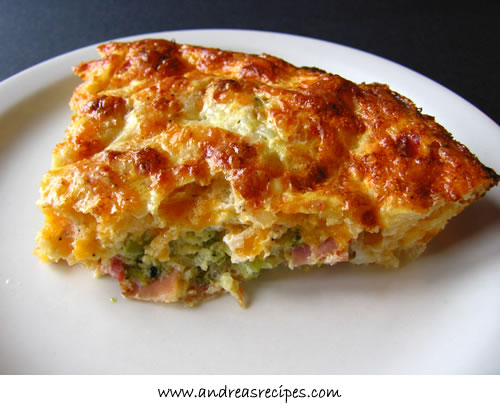 Crustless ham quiche photo 3