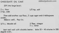 Chocolate Sheath Cake