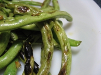Green beans on the grill
