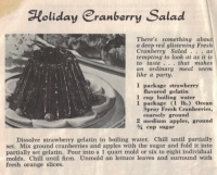 Holiday cranberry salad