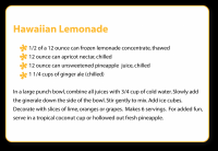 Lemonade punch