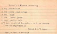 Roquefort Dressing